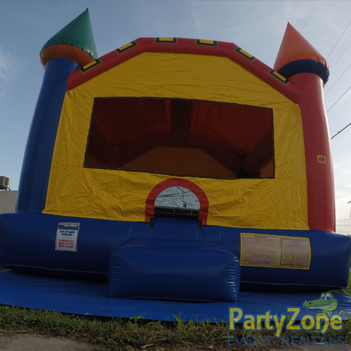 Fun Castle Bounce House Rental Front Low View
