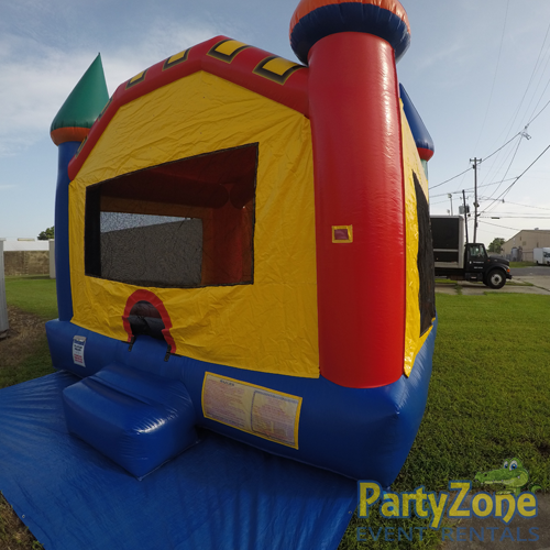 Fun Castle Bounce House Rental Front Right View