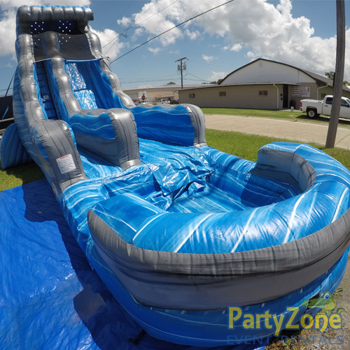 22ft Laguna Waves Water Slide Front Left View