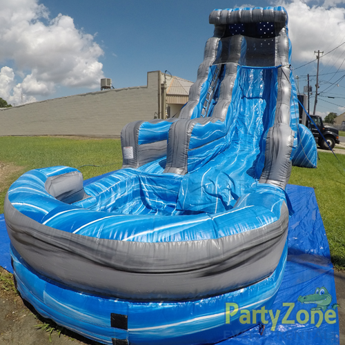 22ft Laguna Waves Water Slide Front Right View