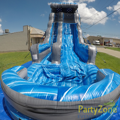 22ft Laguna Waves Water Slide Front View