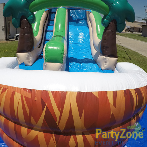 18ft Lifes a Beach Water Slide Front Landing View