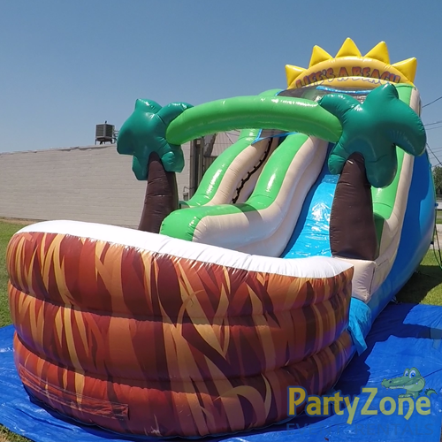 18ft Lifes a Beach Water Slide Front Right Side View