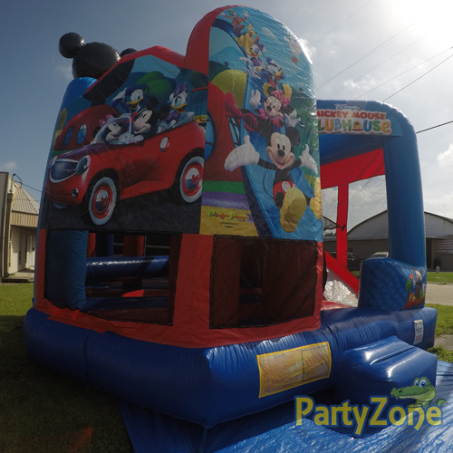 Mickey Mouse Clubhouse 5n1 Combo Bounce House Rental Front Left View