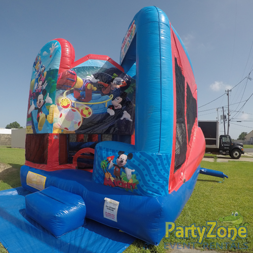 Mickey Mouse Clubhouse 5n1 Combo Bounce House Rental Front Right View