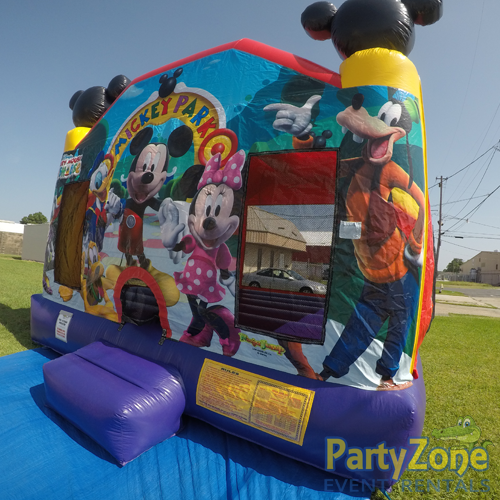 Mickey Mouse Clubhouse Bounce House Rental Front Right View