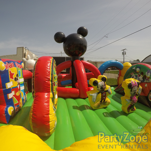 Mickey Park Learning Club Toddler Bouncer Inside Left View