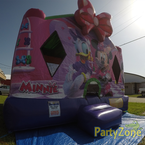 Minnies Bow-Tique Bounce House Rental Front Left View