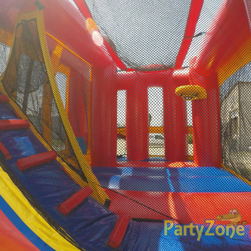 4n1 Combo Bounce House Rental Inside Back View