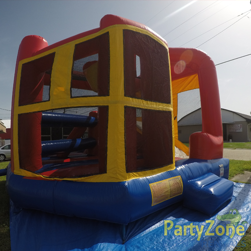 Modular 5n1 Combo Bounce House Rental Front Left View