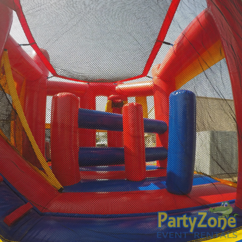 Modular 5n1 Combo Bounce House Rental Obstacles Back View