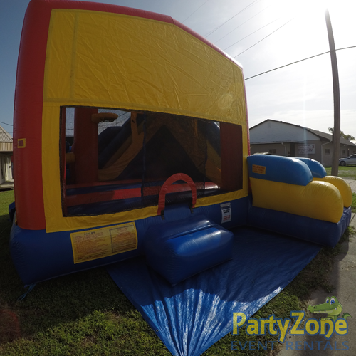 Modular 7n1 Combo Bounce House Rental Front Left View