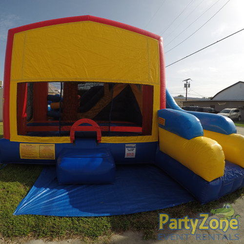 Modular 7n1 Combo Bounce House Rental Front View