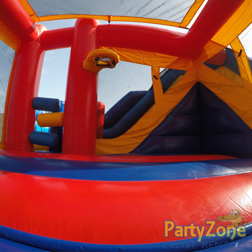 Modular 7n1 Combo Bounce House Rental Inside View