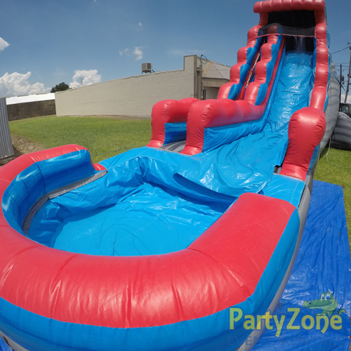 22ft Rocky Falls Water Slide Front Right View