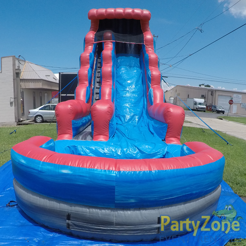 22ft Rocky Falls Water Slide Front View