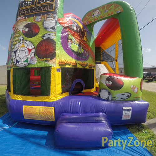 Sports 5n1 Combo Bounce House Rental Front View