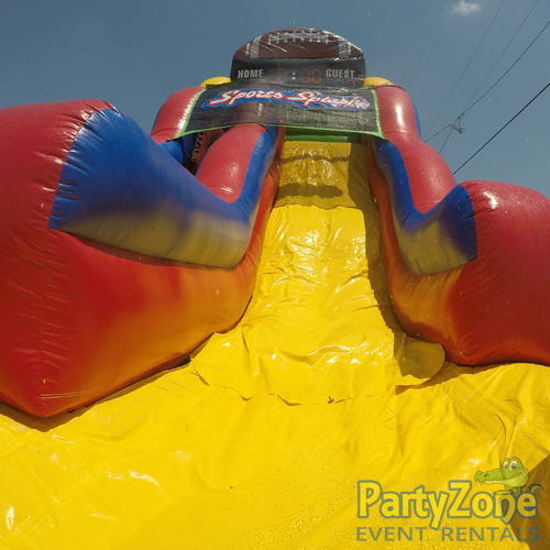 18ft Sports Splash Water Slide Front Landing View