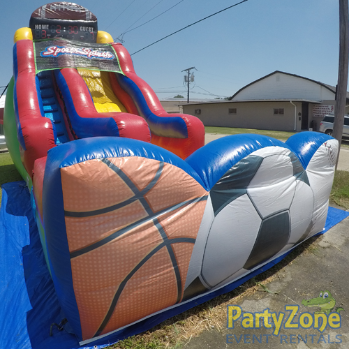 18ft Sports Splash Water Slide Front Left View