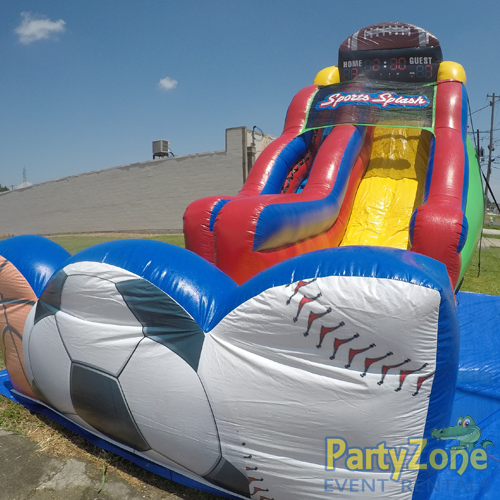 18ft Sports Splash Water Slide Front Right View