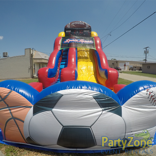 18ft Sports Splash Water Slide Front View