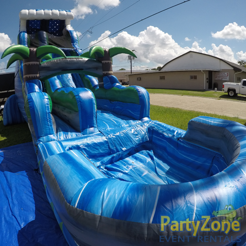 22ft Tropical Tsunami Water Slide Front Left View
