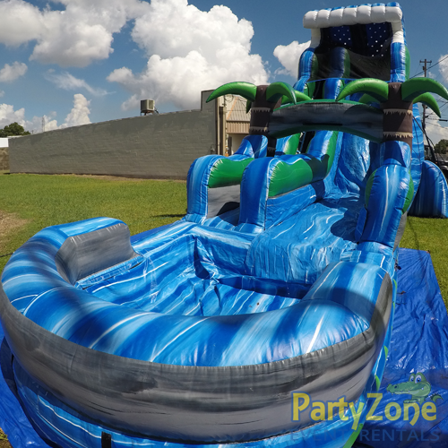 22ft Tropical Tsunami Water Slide Front Right View