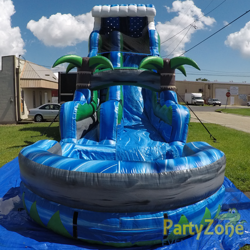 22ft Tropical Tsunami Water Slide Front View