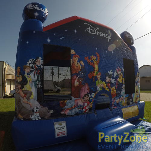 World of Disney Bounce House Rental Front Left View