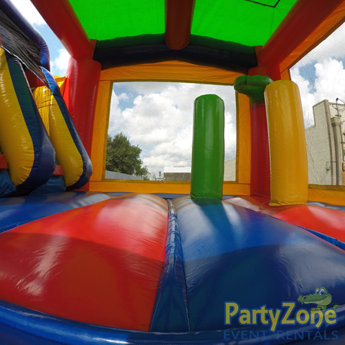 14ft Dual Lane Castle Water Slide Combo Inside Bouncing Area View