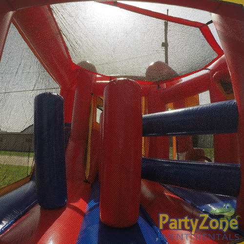 Add a Theme Modular 5n1 Combo Bounce House Rental Obstacles Side View