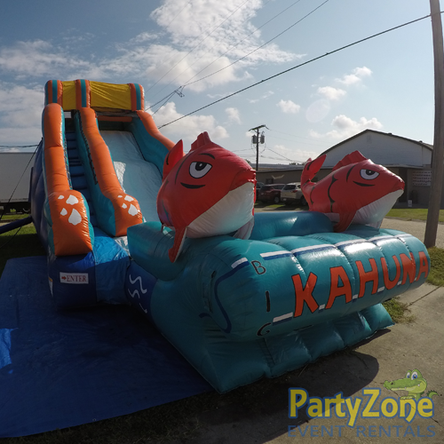 17ft Big Kahuna Water Slide Front Left View