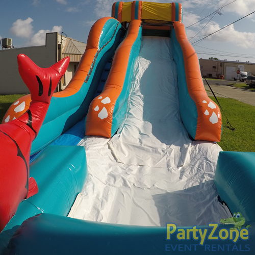 17ft Big Kahuna Water Slide Splash Landing View