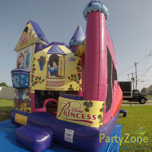 Disney Princess 5n1 Combo Bounce House Rental Front Right View