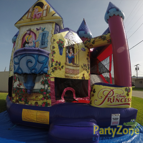 Disney Princess 5n1 Combo Bounce House Rental Front View