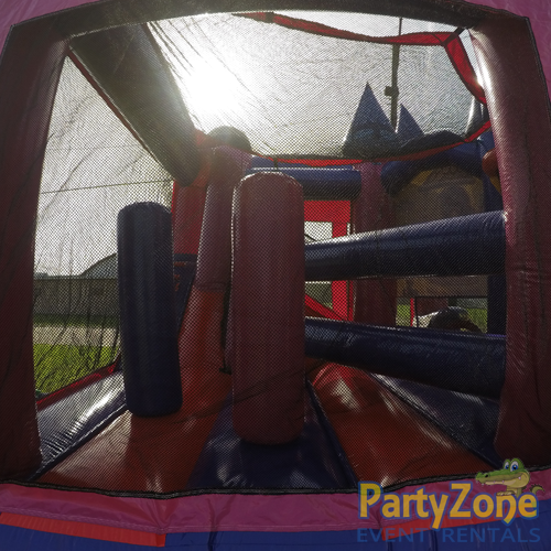 Disney Princess 5n1 Combo Bounce House Rental Obstacles Side View