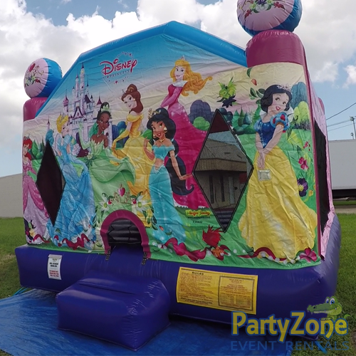 Disney Princess Bounce House Front Right View