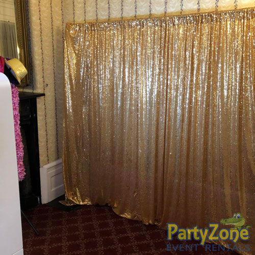 Photo-Booth-Gold-Backdrop-Diamond-Package-PartyZone-Event-Rentals