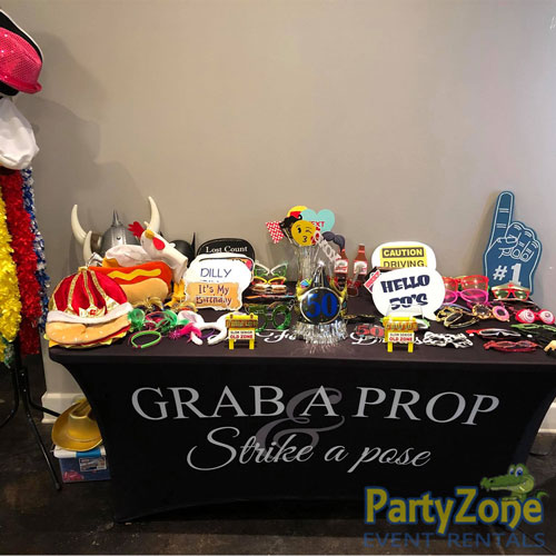 Photo-Booth-Prop-Table-Diamond-Package-PartyZone-Event-Rentals
