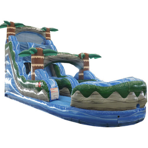 18ft Blue Hurricane Water Slide