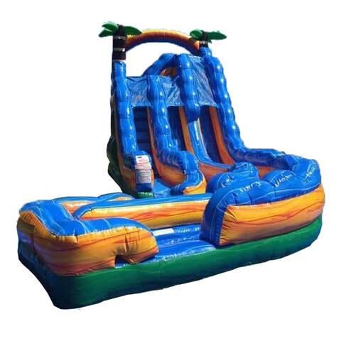 18ft Tropical Thunder Dual Lane Water Slide