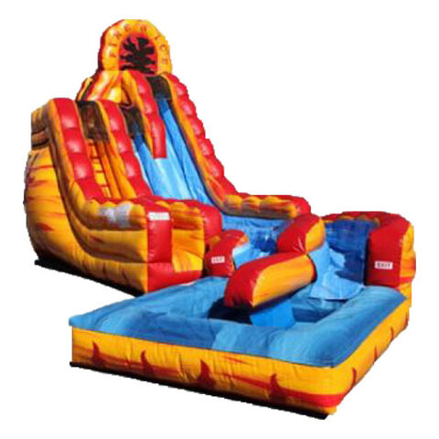 20ft Fire n Ice Dual Lane Water Slide