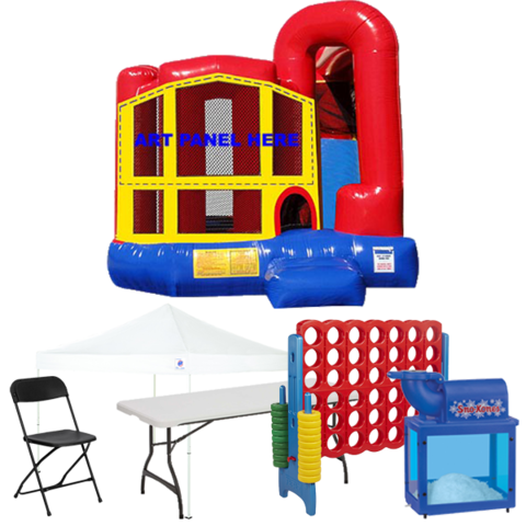 4n1 Combo Bouncer Backyard Premium Party Package
