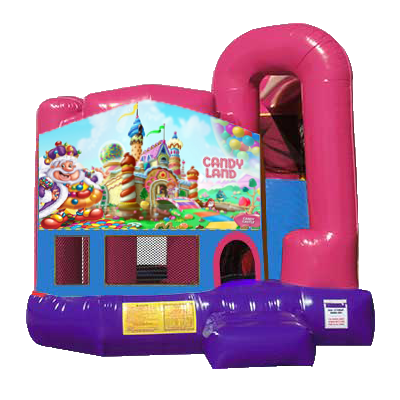 Candyland Dream Backyard 4n1 Combo Bounce House