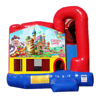 Candyland Modular Backyard 4n1 Combo Bounce House