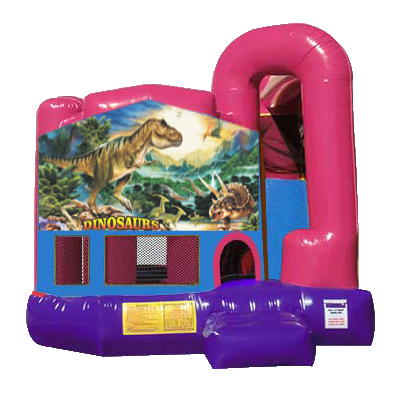 Dinosaurs Dream Backyard 4n1 Combo Bounce House