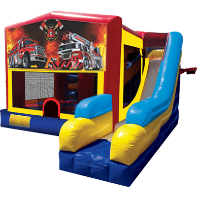 Fire and Rescue Modular 7n1 Combo Bounce House