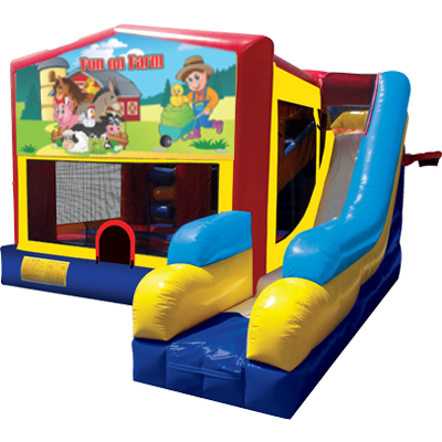 Fun on Farm Modular 7n1 Combo Bounce House