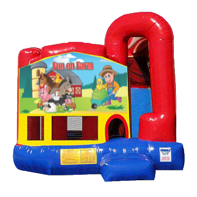 Fun on Farm Modular Backyard 4n1 Combo Bounce House
