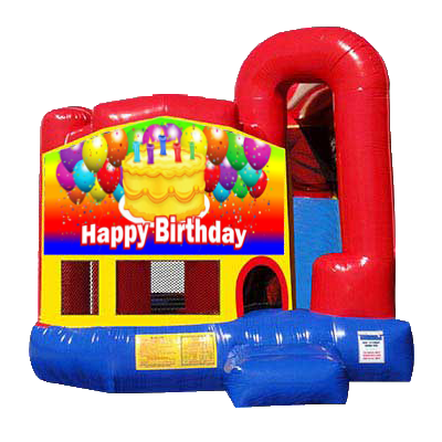 Happy Birthday Modular Backyard 4n1 Combo Bounce House